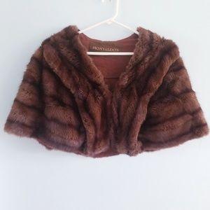 Vintage 60s Montaldo's real mink fur stole capelet